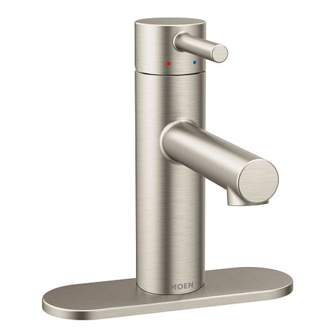 Align Brushed Nickel One Handle High Arc Bathroom Faucet