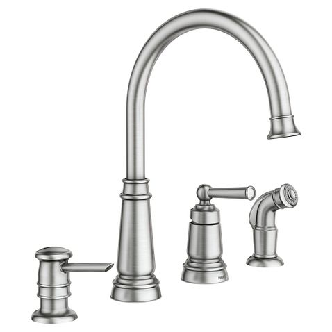 Edison Spot Resist Stainless One Handle High Arc Kitchen