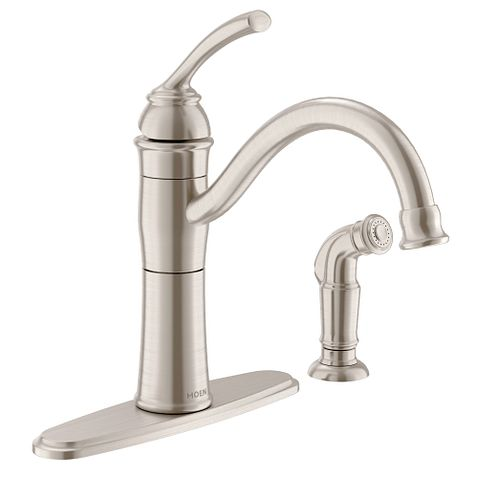 Braemore Spot Resist Stainless One Handle High Arc Kitchen Faucet 87230SRS