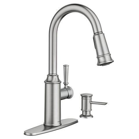 glenshire spot resist stainless one handle high arc