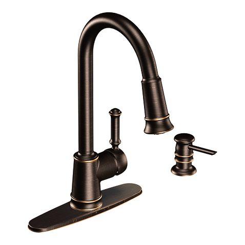Moen Lindley Kitchen Faucet Bronze