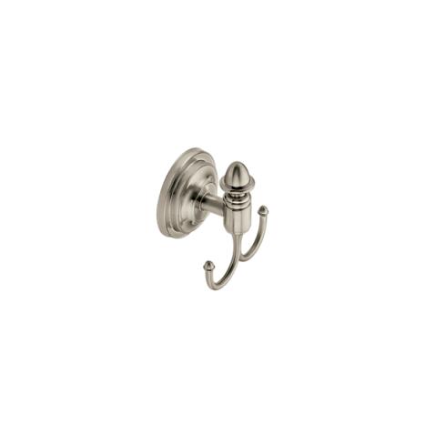 Stockton Brushed Nickel Double Robe Hook Dn4103bn Moen