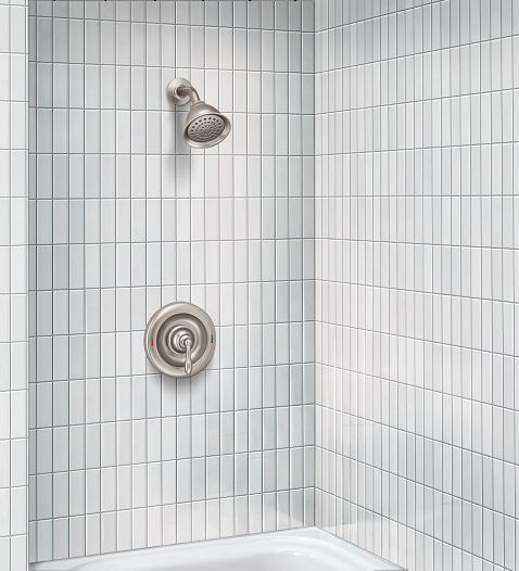 Caldwell Spot Resist Brushed Nickel Posi Temp 174 Shower Only