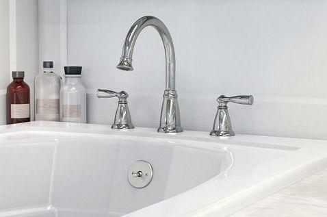 Banbury Chrome Two Handle High Arc Roman Tub Faucet