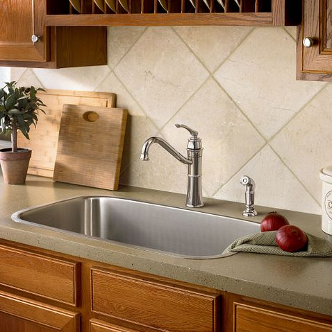 Wetherly Chrome One Handle High Arc Kitchen Faucet 87999