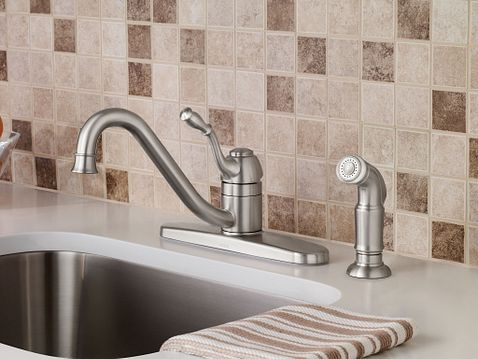 Moen Lindley Stainless Steel Kitchen Faucet