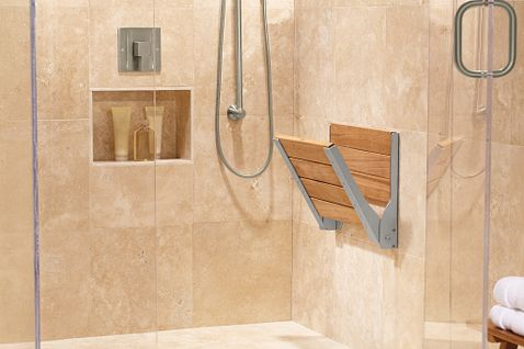 Moen Home Care Teak Folding Shower Seat Dn7110 Moen