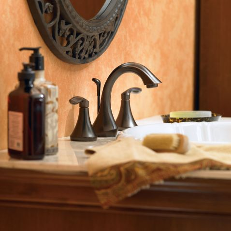 Eva Oil Rubbed Bronze Two Handle High Arc Bathroom Faucet