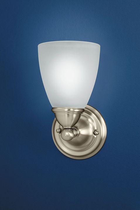 Brantford Brushed Nickel One Globe Bath Light YB2261BN