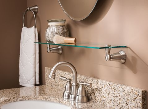 Banbury Brushed Nickel Towel Ring Y2686bn Moen
