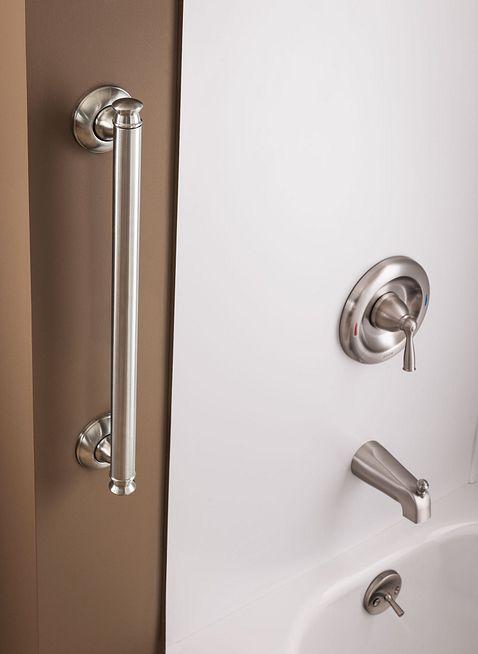 Banbury Spot Resist Brushed Nickel Posi Temp 174 Tub Shower