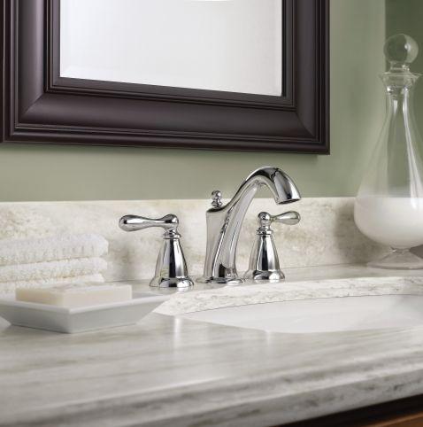 Caldwell Chrome Two Handle High Arc Bathroom Faucet