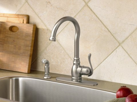 Anabelle Spot Resist Stainless One Handle High Arc Kitchen Faucet 87650srs Moen