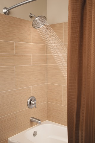 Ashville Spot Resist Brushed Nickel Posi Temp 174 Tub Shower