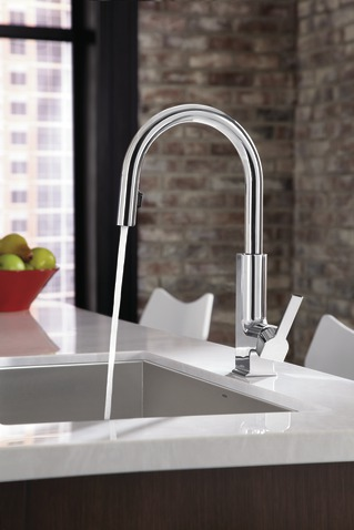 Sto Chrome One Handle High Arc Pulldown Kitchen Faucet