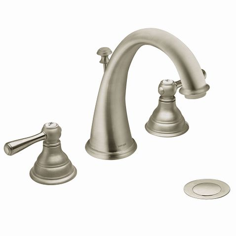 kingsley brushed nickel two handle high arc bathroom faucet t6125bn