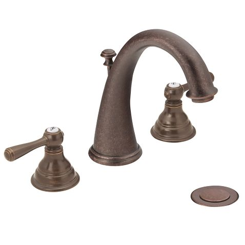 Kingsley Oil Rubbed Bronze Two Handle High Arc Bathroom
