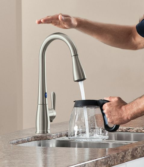 Motionsense Kitchen Faucet: Haysfield Spot Resist Stainless One-handle High Arc