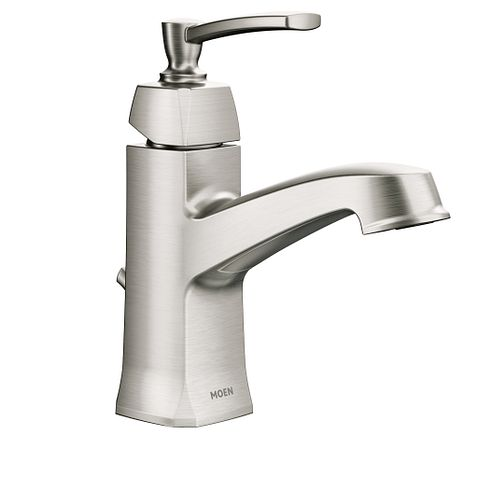 Conway Spot Resist Brushed Nickel One Handle High Arc Bathroom Faucet Ws84923srn Moen