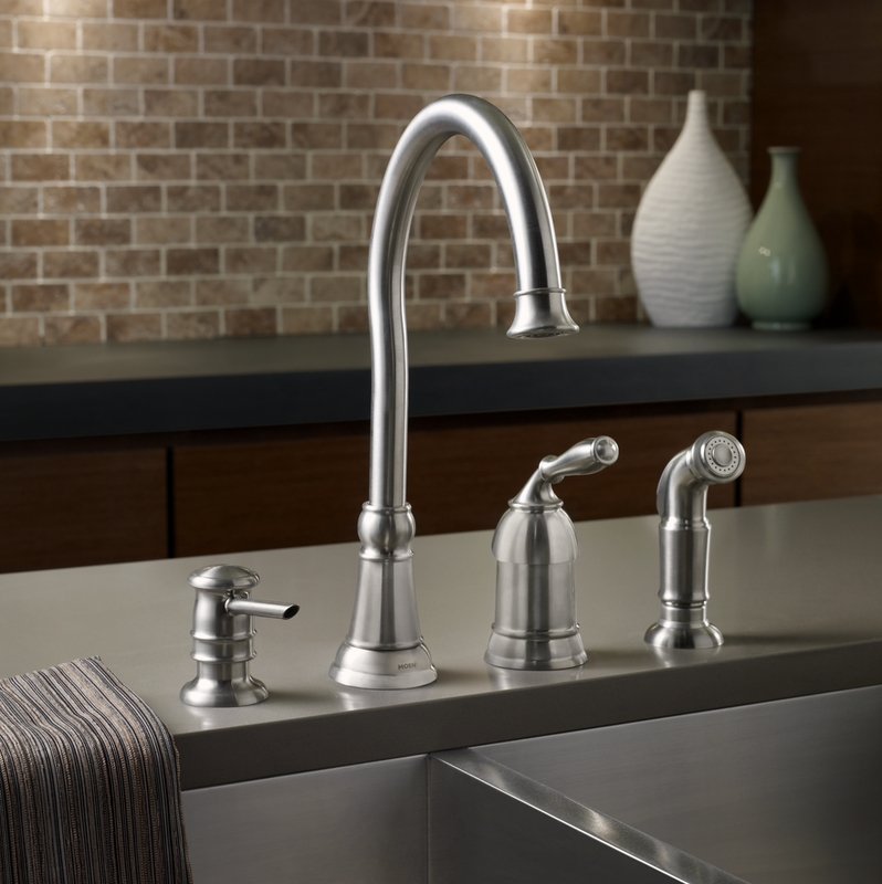introduces new lindley kitchen cathedral faucet at the home depot