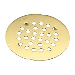 Polished brass tub/shower drain covers