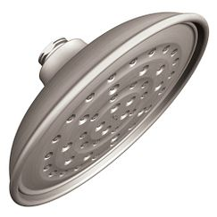 "Spot resist brushed nickel one-function 7"" diameter spray head rainshower showerhead"