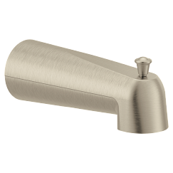 Brushed nickel diverter spouts