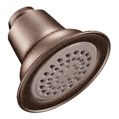 Oil rubbed bronze one-function eco-performance showerhead showerhead