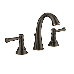 Mediterranean bronze Microban two-handle high arc bathroom faucet