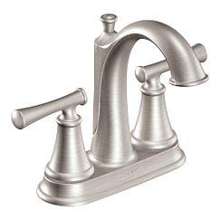 Moen Telford Spot Resistant Brushed Nickel Two-handle High Arc Bathroom Faucet
