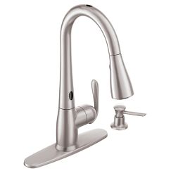 Spot resist stainless one-handle high arc pulldown kitchen faucet