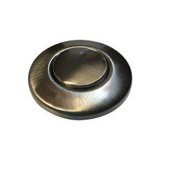 botón tipo interruptor neumático para desecho, níquel satinado