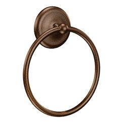 Old world bronze towel ring
