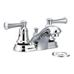 Chrome Two-Handle Bathroom Faucet