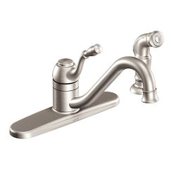 Spot resist stainless one-handle high arc kitchen faucet