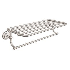 New American Glass Shelf - Brushed Nickel - Bed Bath & Beyond