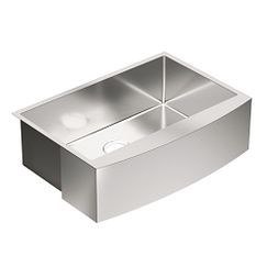"30"" x 21"" stainless steel 18 gauge single bowl sink"