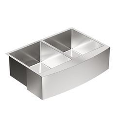 "30"" x 21"" stainless steel 18 gauge double bowl sink"