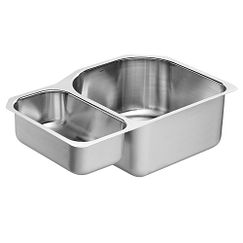 "30.25""x20"" stainless steel 18 gauge double bowl sink"