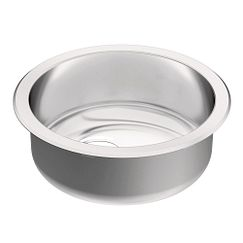 17.5 diameter stainless steel 18 gauge single bowl sink