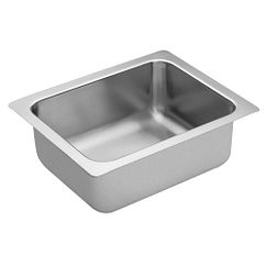 "16""x20"" stainless steel 18 gauge single bowl sink"