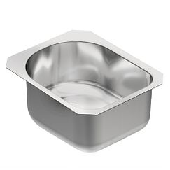 "15"" x 18.5"" stainless steel 18 gauge single bowl sink"