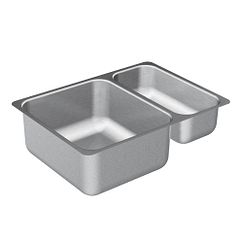 "24""x17"" stainless steel 20 gauge double bowl sink"