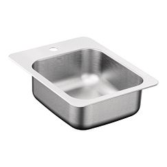 "17""x22"" stainless steel 20 gauge single bowl drop in sink"