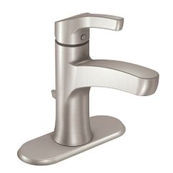 Spot resist brushed nickel one-handle high arc bathroom faucet