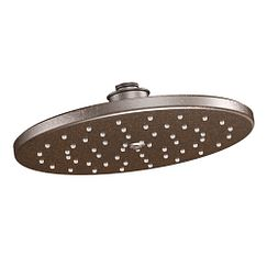 "Oil rubbed bronze one-function 10"" diameter spray head eco-performance showerhead showerhead"