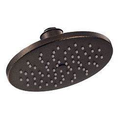"Oil rubbed bronze one-function 8"" diameter spray head rainshower showerhead"
