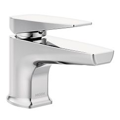 Chrome one-handle low arc low profile bathroom faucet