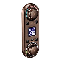 Oil rubbed bronze vertical spa digital control