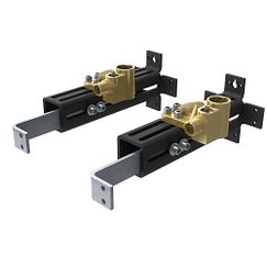 Double Riser Floor Mount Tub Filler Mounting System